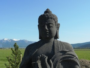 Buddha with Mountains