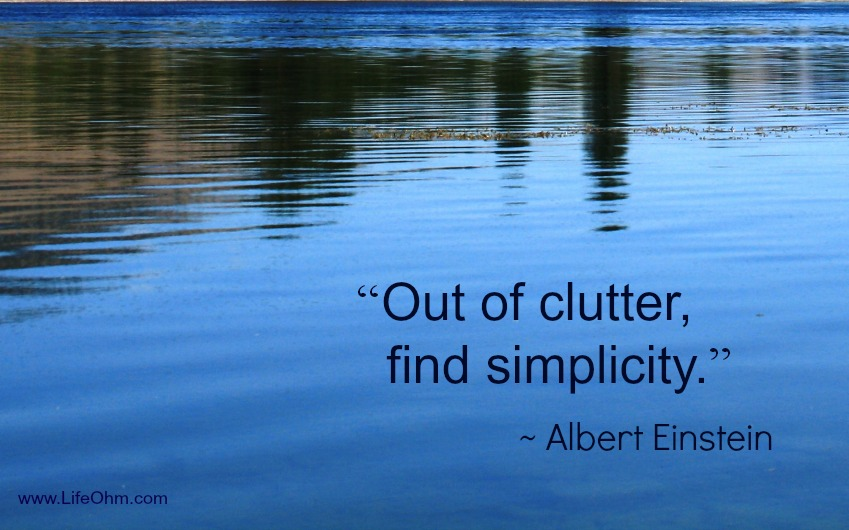 clutter and simplicity