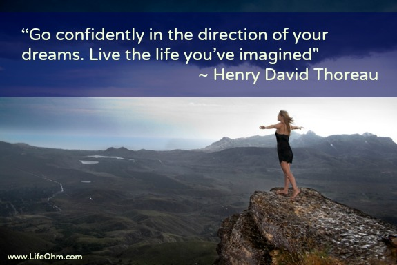 """Go confidently in the direction of your dreams. Live the life you've imagined."" Thorough Quote and 25 Additional Quotes to Inspire Confidence."