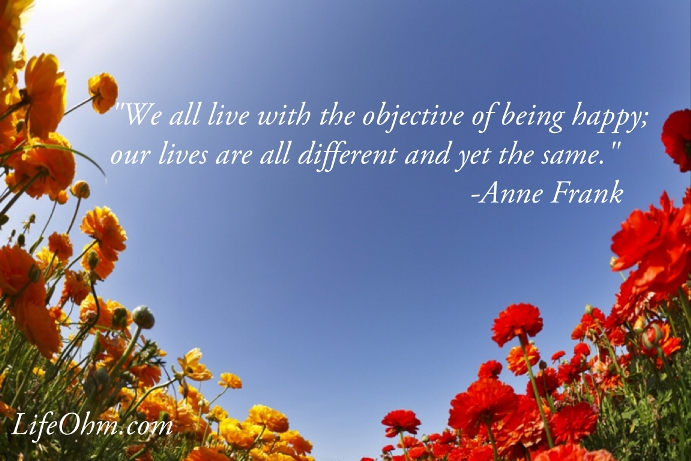 Happiness Quote - Anne Frank