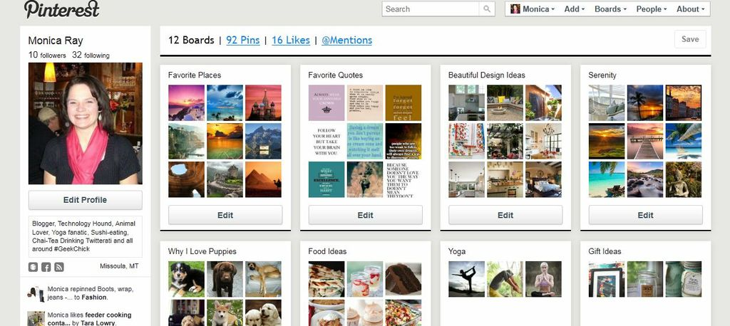 Pinterest - Vision Board